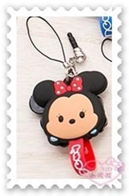 ♥小花花日本精品♥《Disney》迪士尼 米妮 充電線 耳機 集線器 捲線器 防塵塞00408608 (4.5折)