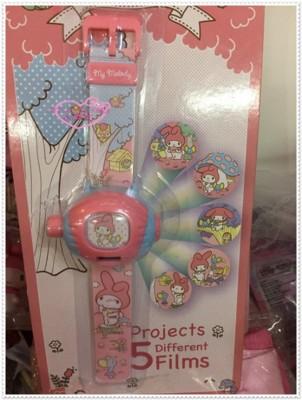 小花花日本精品♥ Hello Kitty 美樂蒂 兒童 投影電子手錶 99923204 (7.3折)