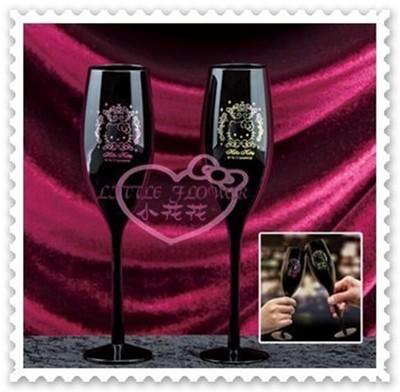 ♥小花花日本精品♥Hello Kitty 對杯玻璃杯高腳杯香檳杯金色粉色送禮首選11283706 (6.9折)