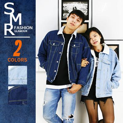 『SMR』外套-仿羔羊毛牛仔外套-情侶必備款-2色任選《9997888》 (9.4折)
