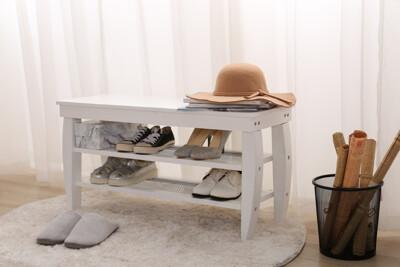歐式  Eileen愛琳全實木 穿鞋椅 椅凳 (6.6折)