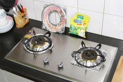 廚房煤氣灶鋁箔紙防油盤清潔墊10片裝 (2.9折)