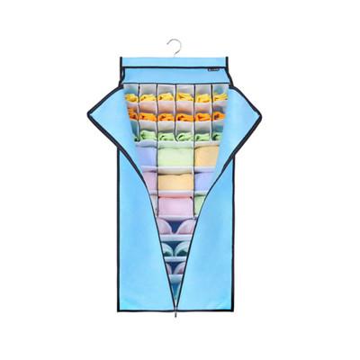 > 衣櫥衣櫃多層內衣內褲襪子掛式收納整理袋-附拉門 #1422-1 (5.7折)