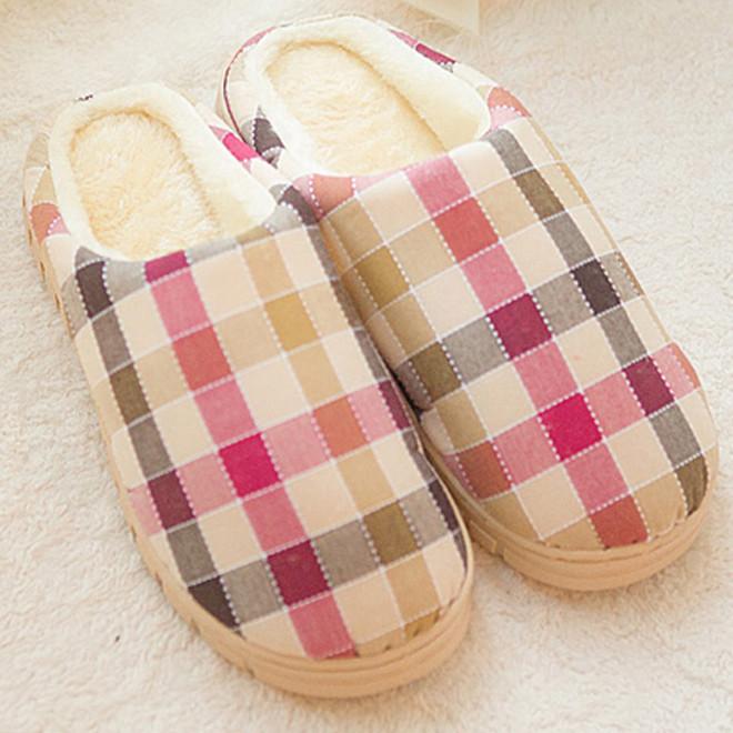 << igoole >>冬季情侶棉拖鞋家居室內棉鞋 男女居家厚底鞋 #1299