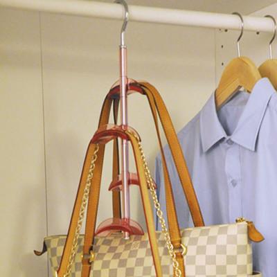 << igoole >> 包包收納掛架衣櫃櫥多層可旋轉4層掛架 #1370 (5.9折)