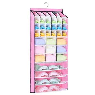 > 衣櫥衣櫃多層內衣內褲襪子掛式收納整理袋-無門 #1422 (6.6折)