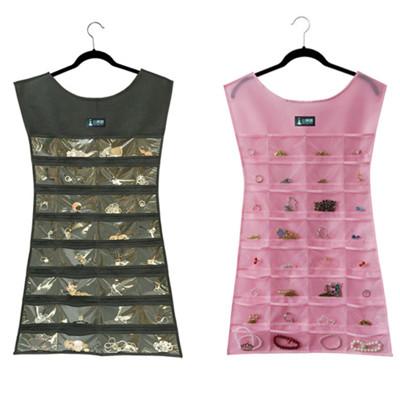 > 高檔牛津布珠寶首飾收納掛袋雜物整理袋-30格 #1423-1 (6折)
