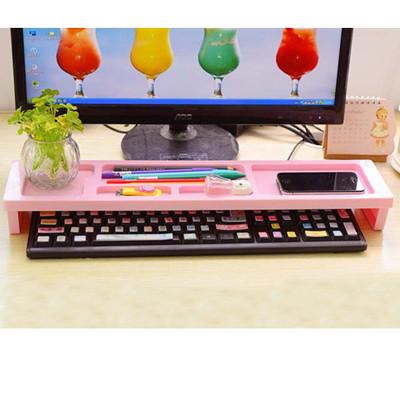 > 韓版時尚馬卡龍色桌面鍵盤收納置物架 #1298 (6.3折)