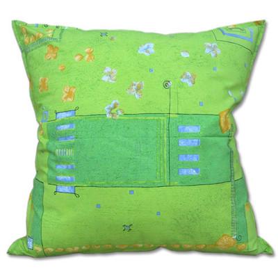 棉花田【花園】印花純棉抱枕套-綠(60X60cm) (7.3折)