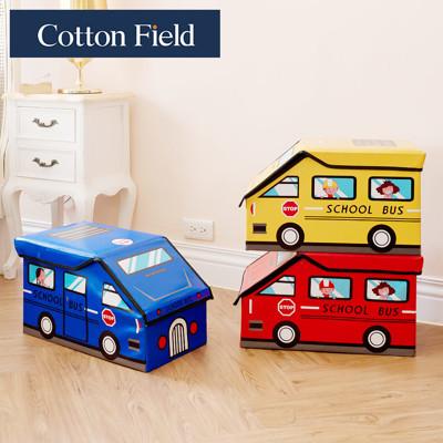 ★促銷★棉花田【Bus咘咘】立體汽車造型摺疊收納凳(3色可選) (6折)