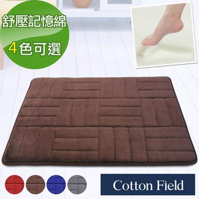 棉花田【CLOUD-E】舒壓記憶綿吸水防滑踏墊(40x60cm)-4色可選 (5.7折)