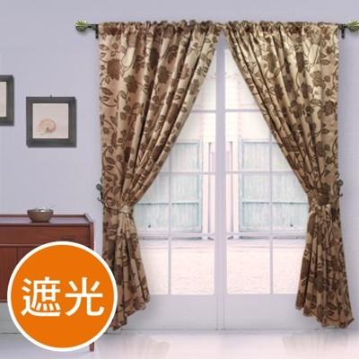 棉花田【法爾】印花仿麂皮穿掛兩用遮光窗簾(270x230cm) (8.1折)