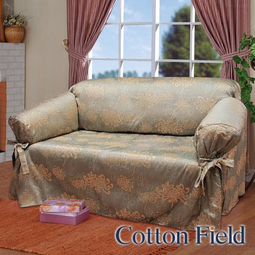 棉花田光燦提花單人沙發便利套-2色可選