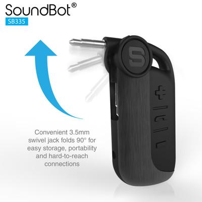 美國聲霸SoundBot SB335 藍牙接收器 4.1 音樂接收播放藍牙傳輸器 (6.4折)