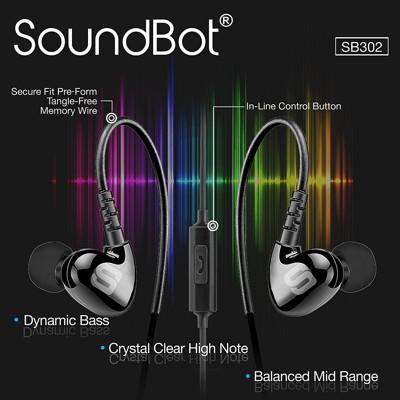 美國聲霸SoundBot SB302 運動防汗後掛式耳機 (9.9折)