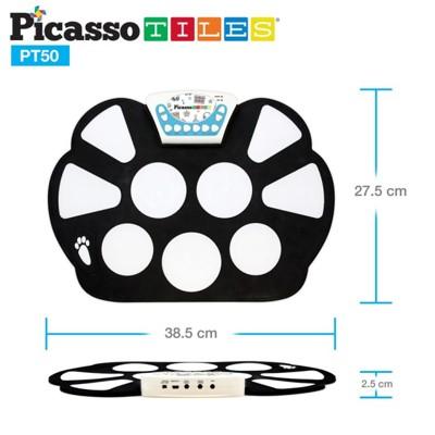 美國畢卡索Picasso Tiles PT50智慧便攜式手捲電子鼓–七種鼓聲 (5.7折)
