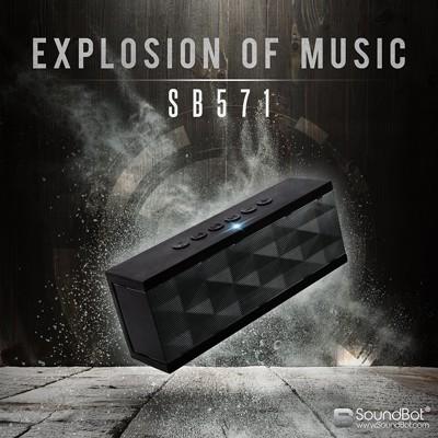 美國聲霸SoundBot SB571 藍牙2.1聲道隨身喇叭 12W 藍芽喇叭音響 (6.4折)