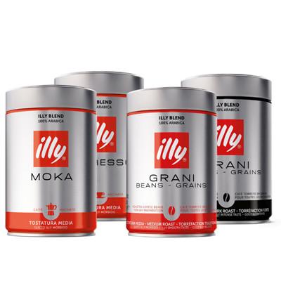illy 咖啡 中烘焙/重烘焙 咖啡粉、咖啡豆 250g 義大利原裝進口 (4.9折)