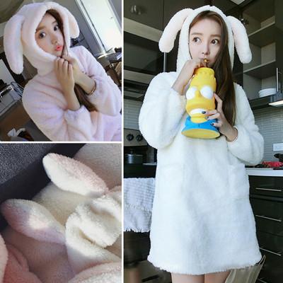 保暖舒適蝴蝶結造型珊瑚絨睡衣睡袍CNTOP (3.7折)