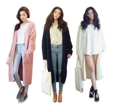 【實拍】韓版 摩登時尚 排釦長版針織外套 大衣CNTOP (4.7折)