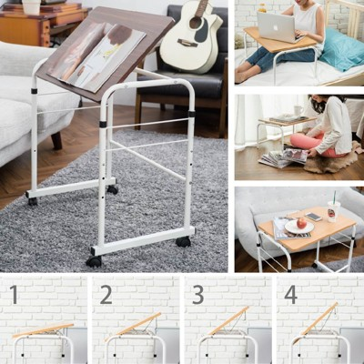 【1011居家生活館】可拆式五段升降桌(原木色/胡桃木色) (3.5折)