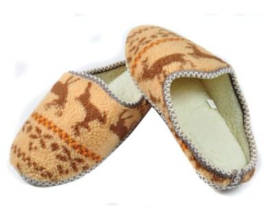 (e鞋院) 馴鹿.小綿羊麂皮毛織室內拖鞋 (5折)