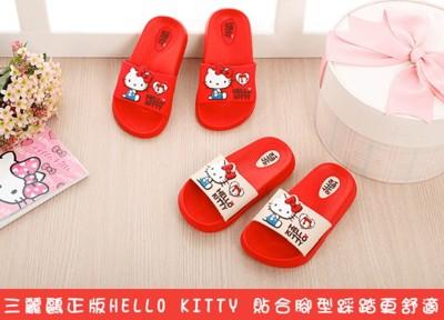 (e鞋院)HelloKittyQ軟萌萌兒童拖鞋 (5折)