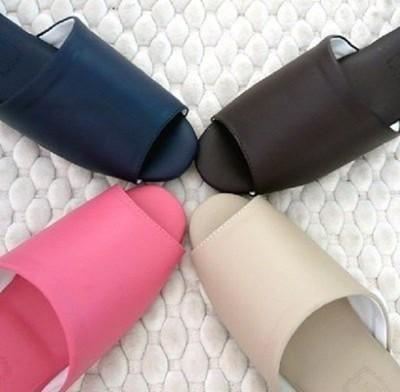 (e鞋院)日式可水洗氣墊(厚底)舒適室內皮拖鞋 (3.3折)