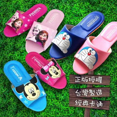 (e鞋院)經典卡通兒童室內皮拖鞋 (2.5折)