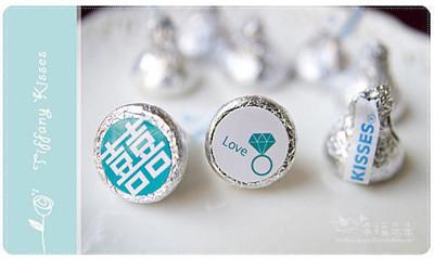 幸福朵朵【Tiffany婚禮主題─KISSES水滴巧克力(每包100顆)】-創意糖果喜糖婚禮小物 (6.5折)
