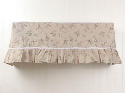 森林系棉麻可開機式冷氣防塵罩 /換季好幫手/防塵 -清新綠草 (2.6折)