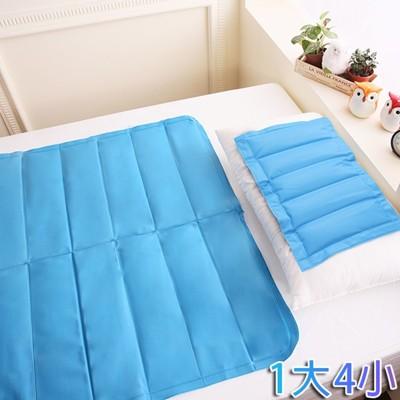 【CoolCold】專利認證-急冷激涼冷凝墊組-枕墊*4+床墊*1 (6.5折)