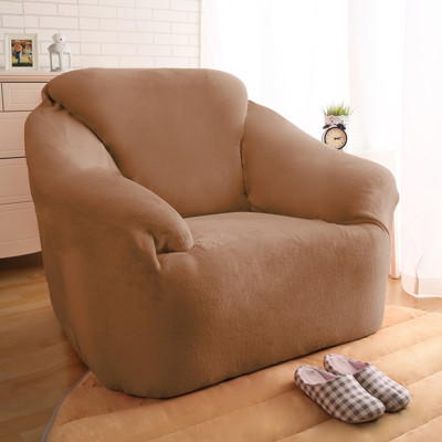 【HomeBeauty】頂級柔暖素色法蘭絨沙發罩-1人座-三色可選 (6.5折)