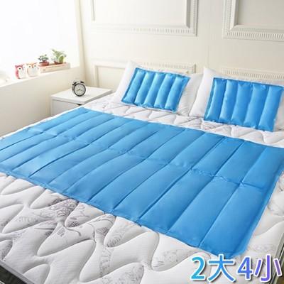 【CoolCold】專利認證-急冷激涼冷凝墊組-枕墊*4+床墊*2 (6.4折)