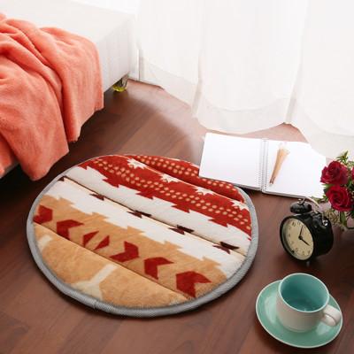 【HomeBeauty】細緻法蘭絨超厚款圓型地墊-直徑50cm-16色可選 (0.5折)