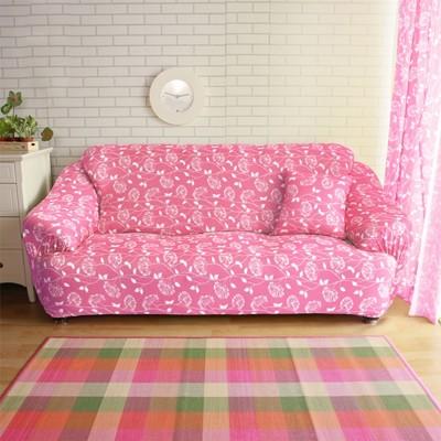 【Homebeauty】超涼感冰晶絲印花彈性沙發罩-1+2+3人座-四色可選 (5折)
