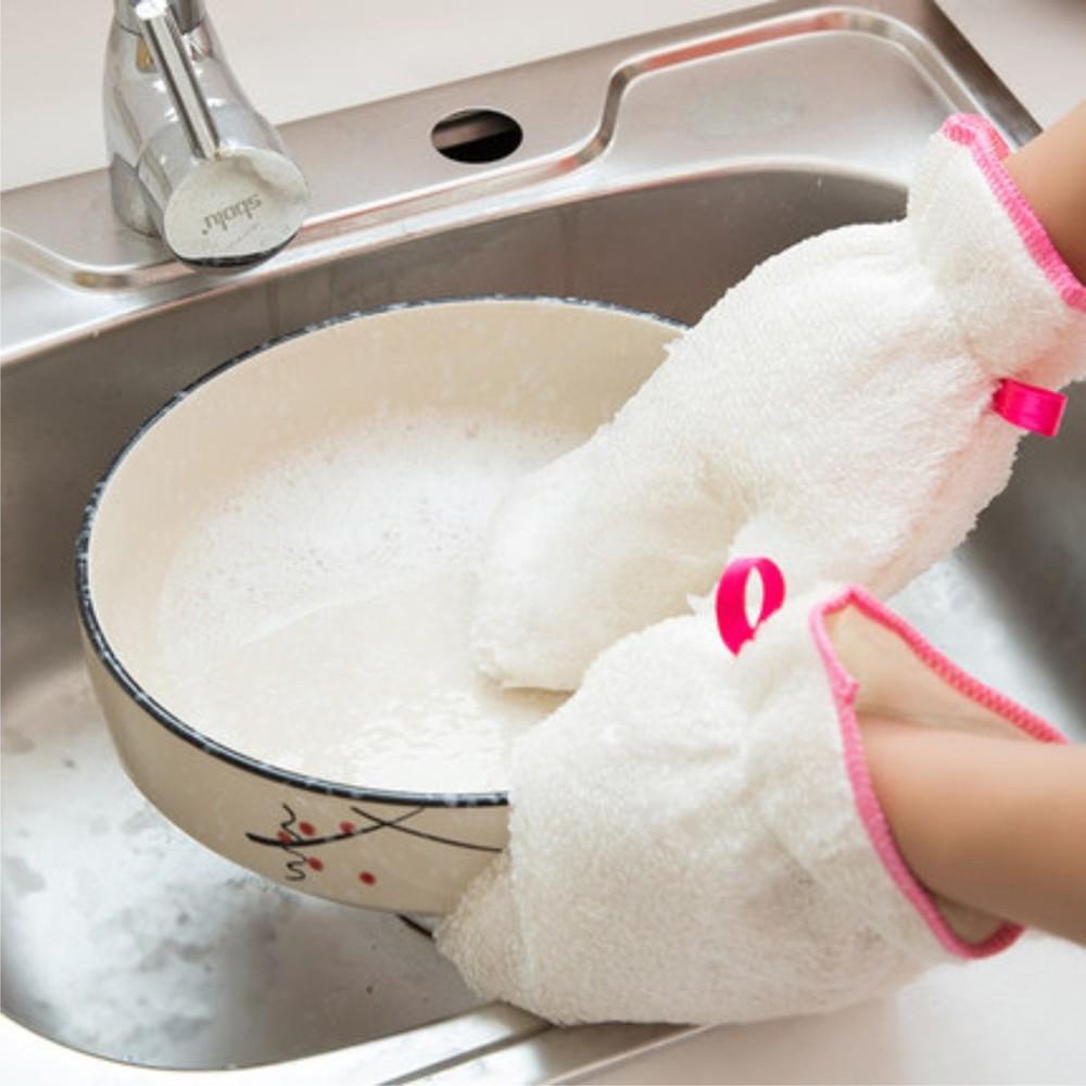 洗碗神器媽媽幫手 洗淨力強洗碗盤快速容易 不濕手 內部防水材質 廚房洗碗必備 清潔手套 b80