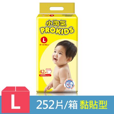 小淘氣 透氣乾爽紙尿褲-L (42片x6包/箱) (8.2折)