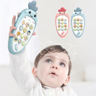 兒童音樂玩具手機 嬰兒多功能牙膠雙語寶寶玩具-BEL9118