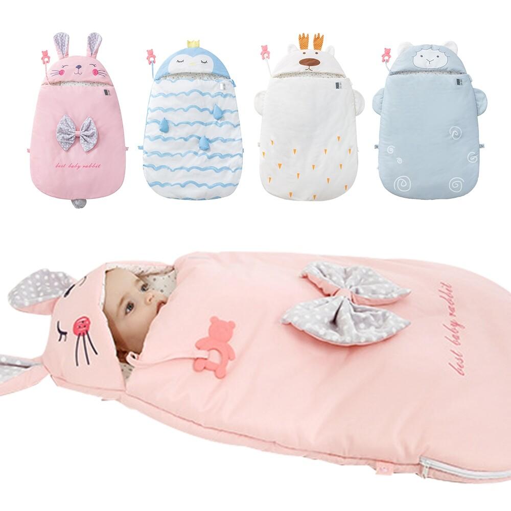 嬰兒抱被 新生兒防驚嚇感溫襁褓純棉寶寶動物睡袋-mh9159