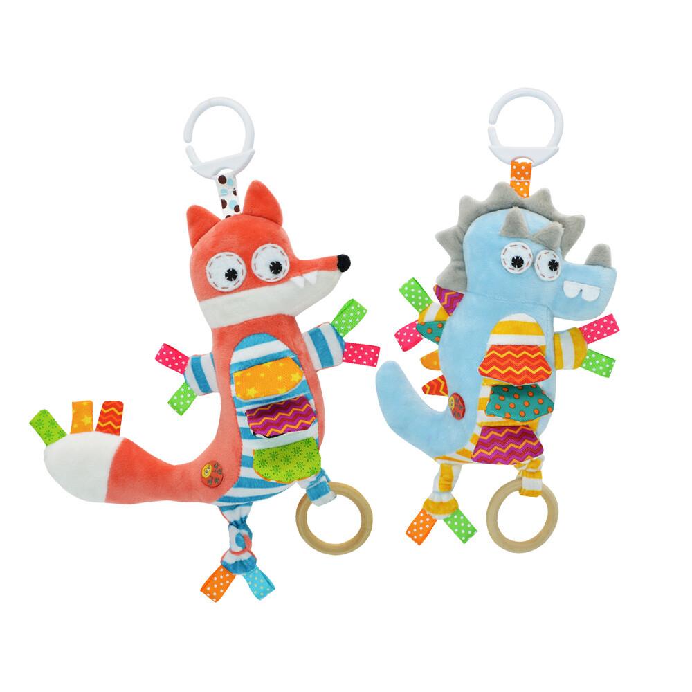嬰兒安撫玩具動物音樂拉鈴 推車玩偶床挂寶寶玩偶-ky2205