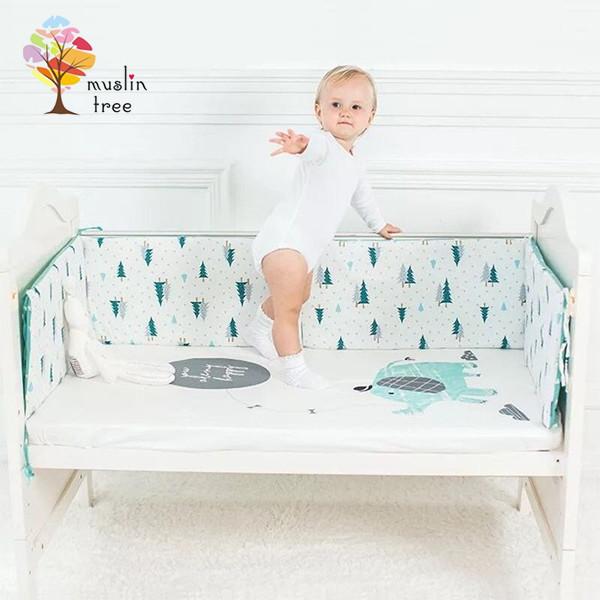 muslintree嬰兒床加厚防撞床圍寶寶防摔床墊一條入(120*30cm)-mt2622