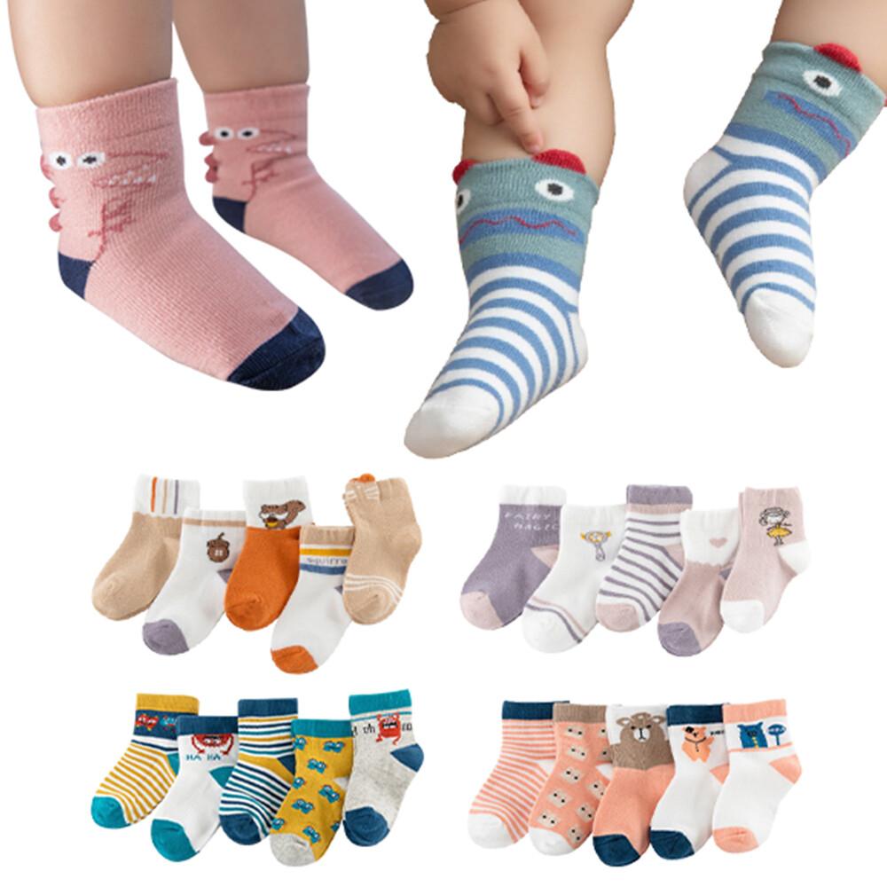 5雙入 童襪短襪地板襪兒童立體卡通襪-hc3419