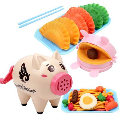 小豬擠麵條機 彩色粘土包餃子益智玩具-AEU9320 (5.6折)