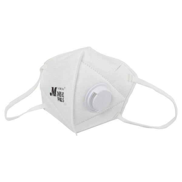 makrite凈舒式 pm2.5 立體 口罩 防空汙 防霾口罩  防塵 (2入/袋,有氣閥,白色)
