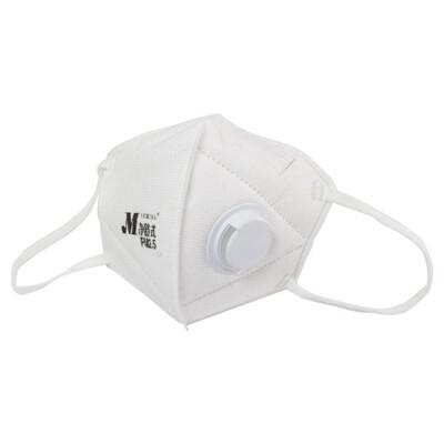 Makrite凈舒式 pm2.5 立體 口罩 防空汙 防霾口罩  防塵 (2入/袋,有氣閥,白色) (5.2折)
