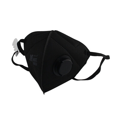 Makrite凈舒式 pm2.5 立體 口罩 防空汙 防霾口罩  防塵 (2入/袋,有氣閥,黑色) (5.2折)