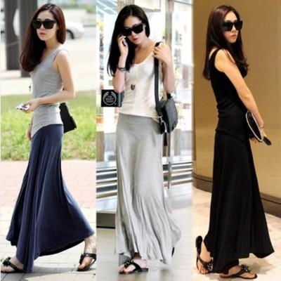 傘狀大裙擺高腰半身裙(三色任選) (5折)
