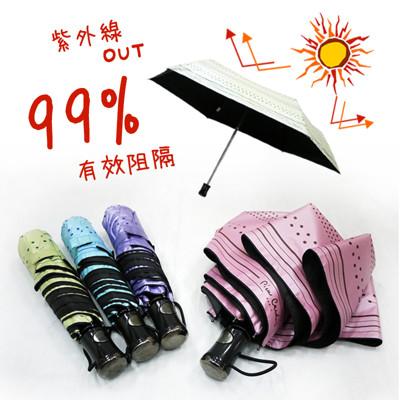皮爾卡登輕量抗UV自動開收雨傘 (3.6折)