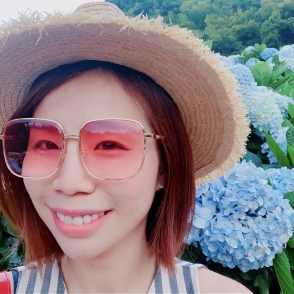 時尚貴氣大方框金屬框墨鏡太陽眼鏡